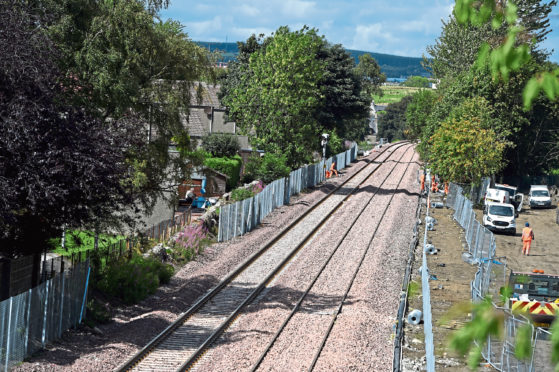 Network Rail has laid 18km of new track between Aberdeen and Inverness