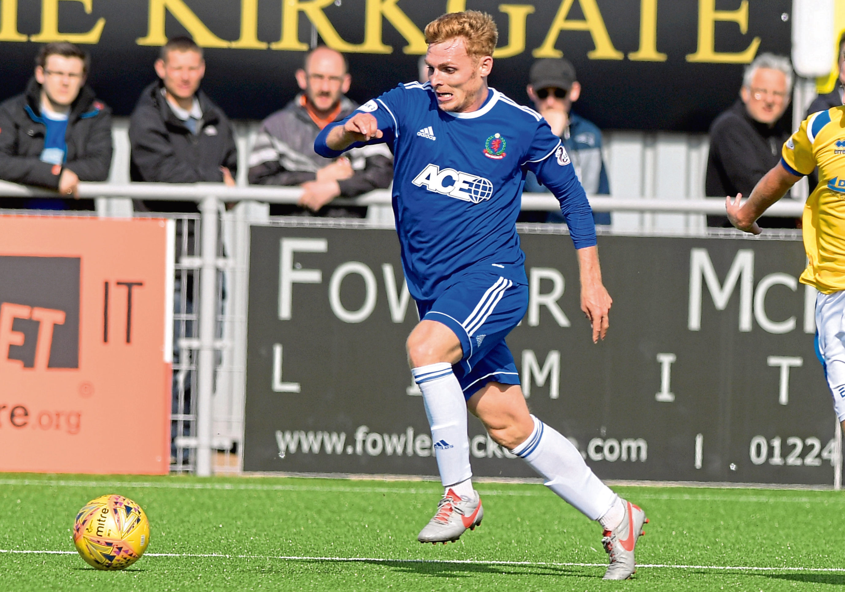 Cove Rangers midfielder Fraser Fyvie.