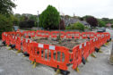 The work has started to reinstate the traffic island at Don Street and Cheyne Road, which was removed for the Great Aberdeen Run
