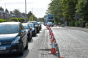 Drivers faced lengthy delays on Queen's Road and Skene Road caused by works to the Hazlehead roundabout
