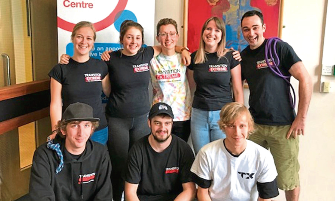 Staff at Transition Extreme got together to give blood