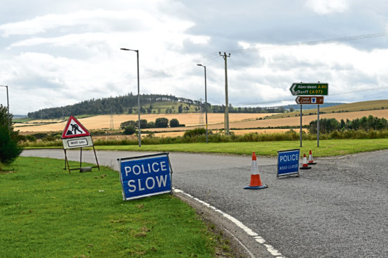 Emergency services were called to the scene on the A96