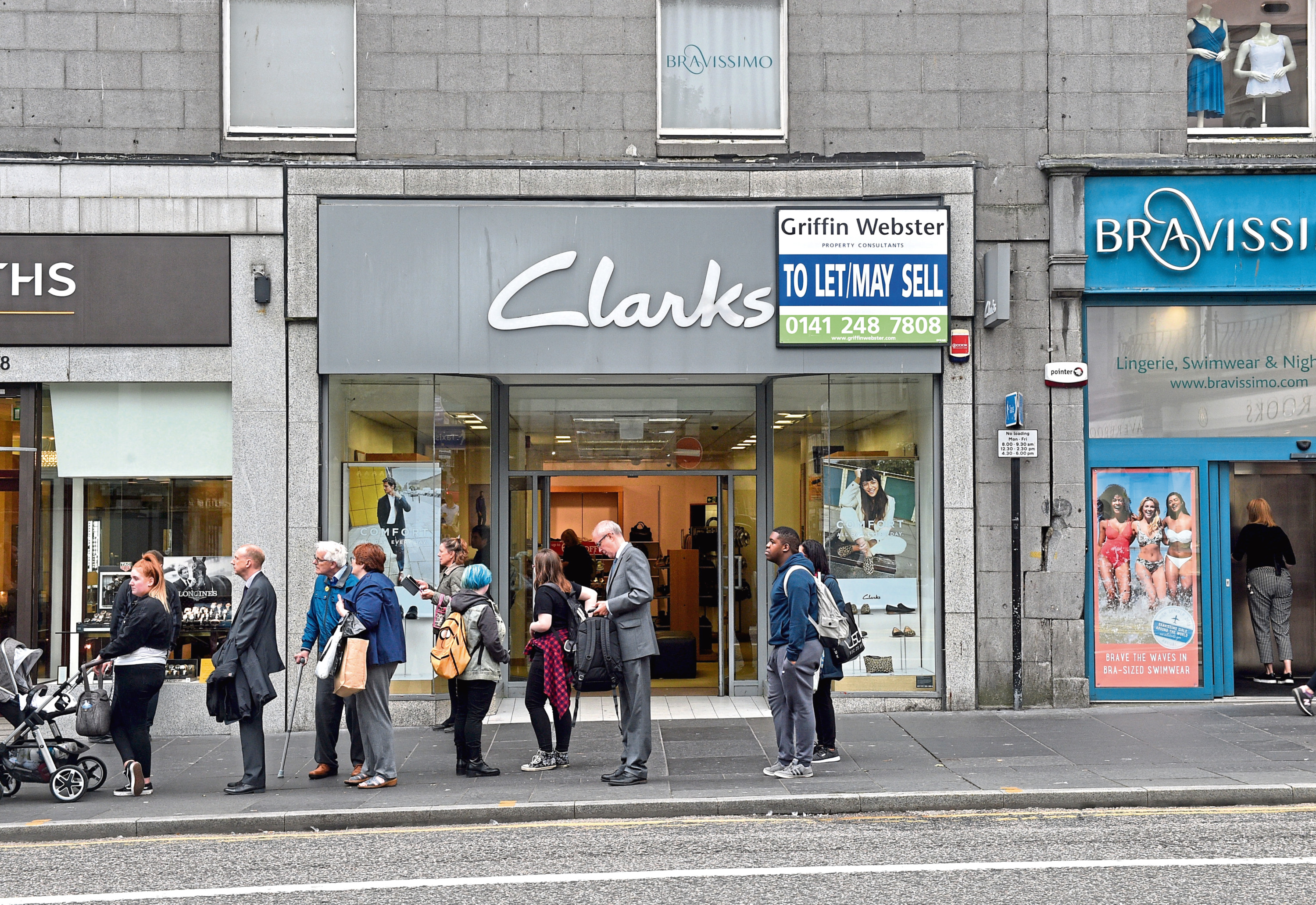 Clarks has been a fixture on Aberdeen's Union Street since the 70s
