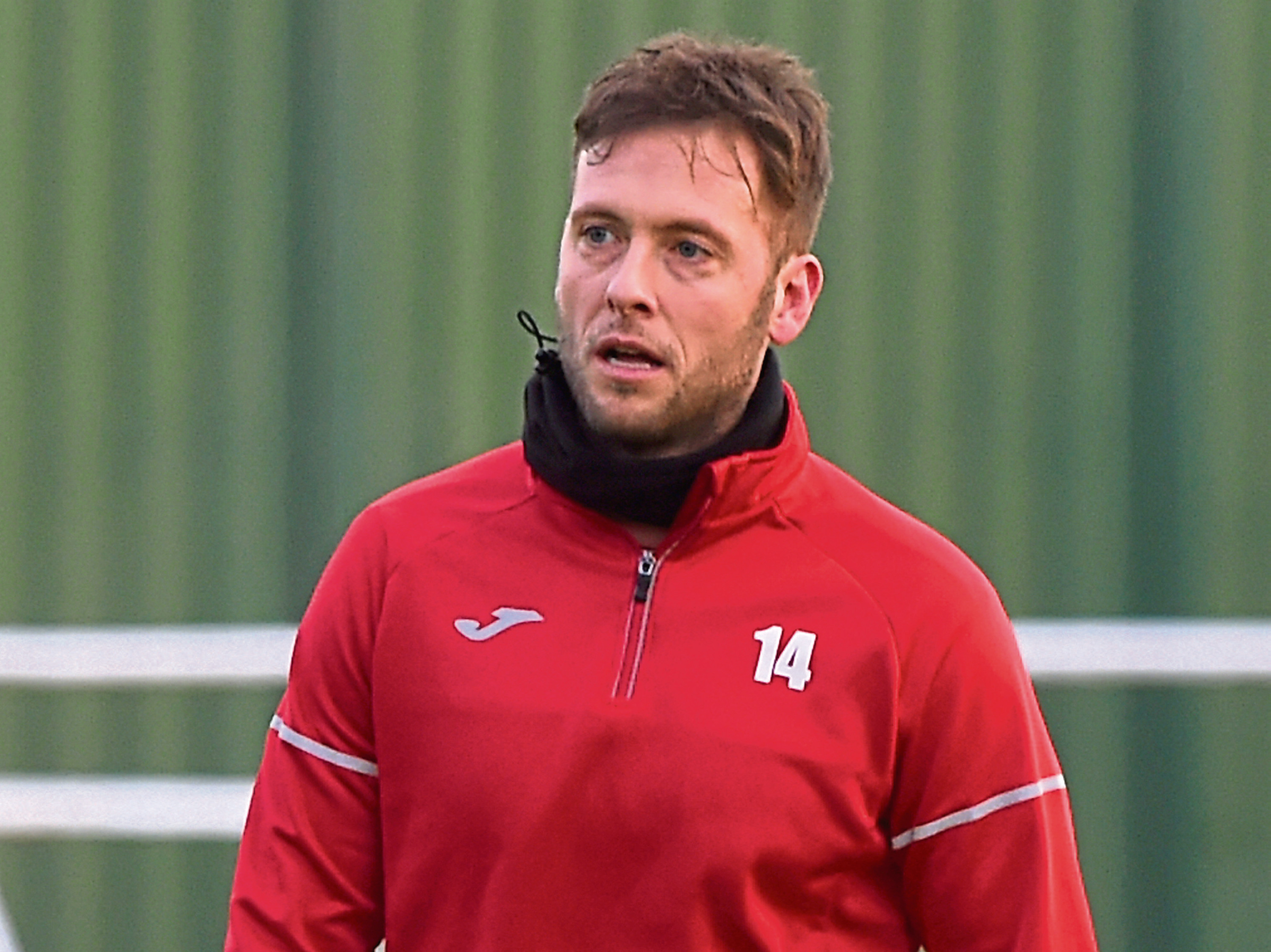 Formartine United player-manager Paul Lawson