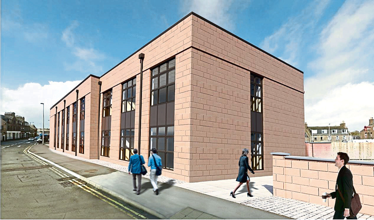 Artist impressions of the extension to Buchan House, Peterhead