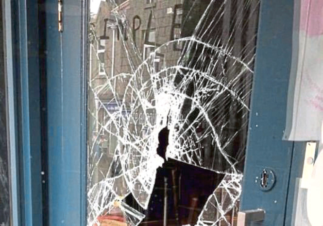 Owners Foodstory had to pay £500 to repair the window Gray smashed