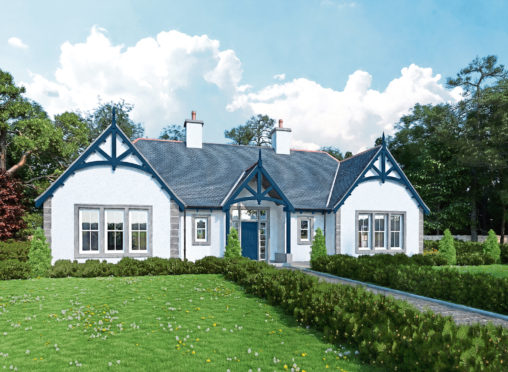 An artist impression one of the properties proposed for the area
