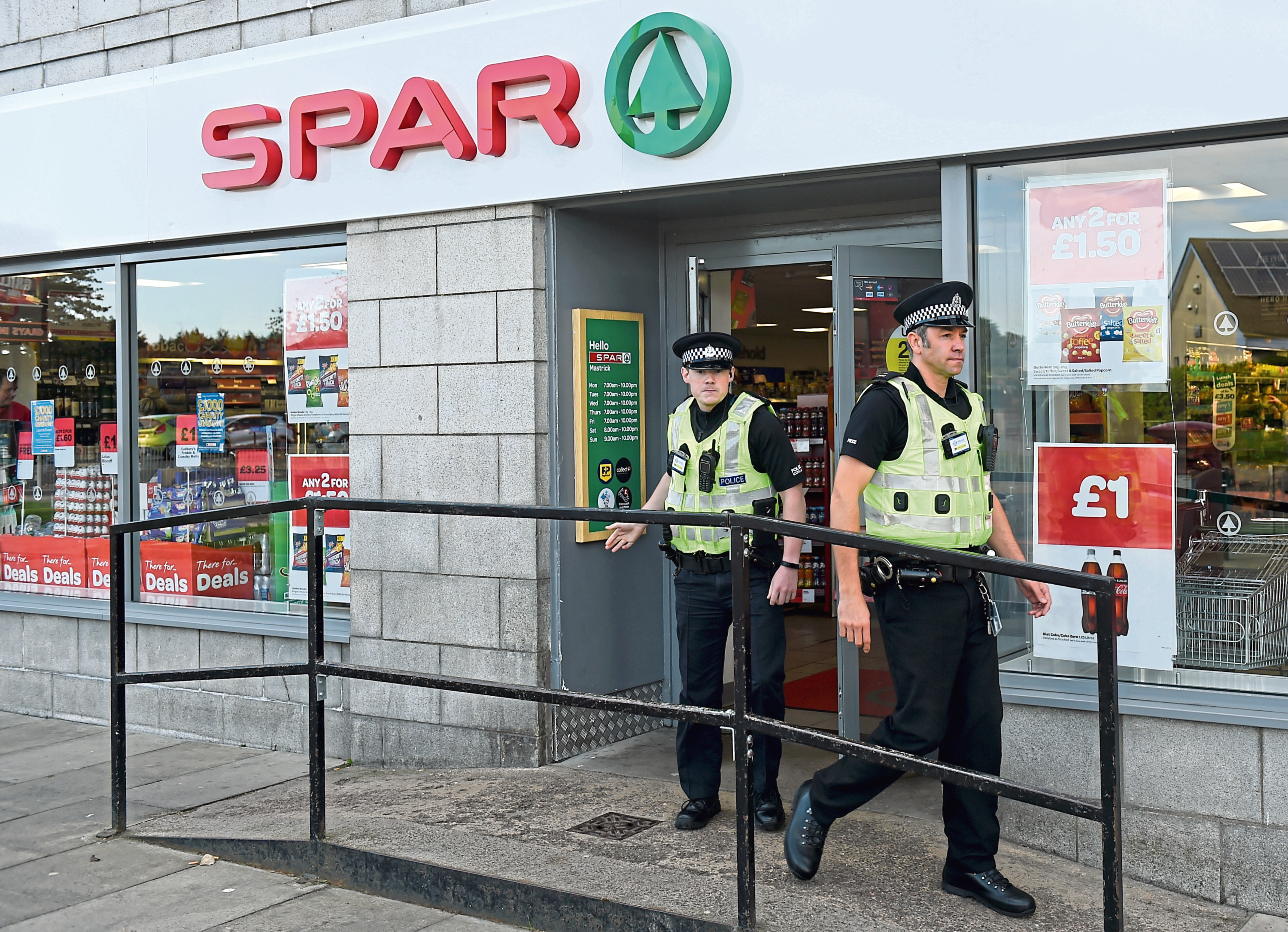 The Spar has been forced to lock up coffee due to a spate of thefts. Picture by Kenny Elrick