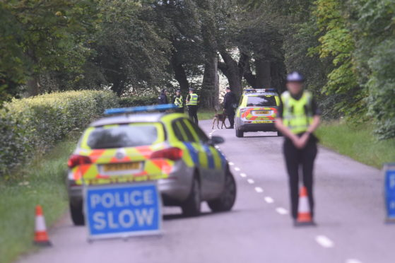 Police were called to the scene on the B993 at 5.05am this morning
