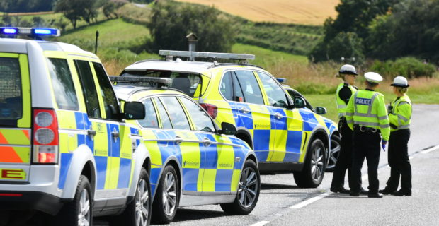Police were called to the junction of the A97 and A944, near Mossat at 12.25pm