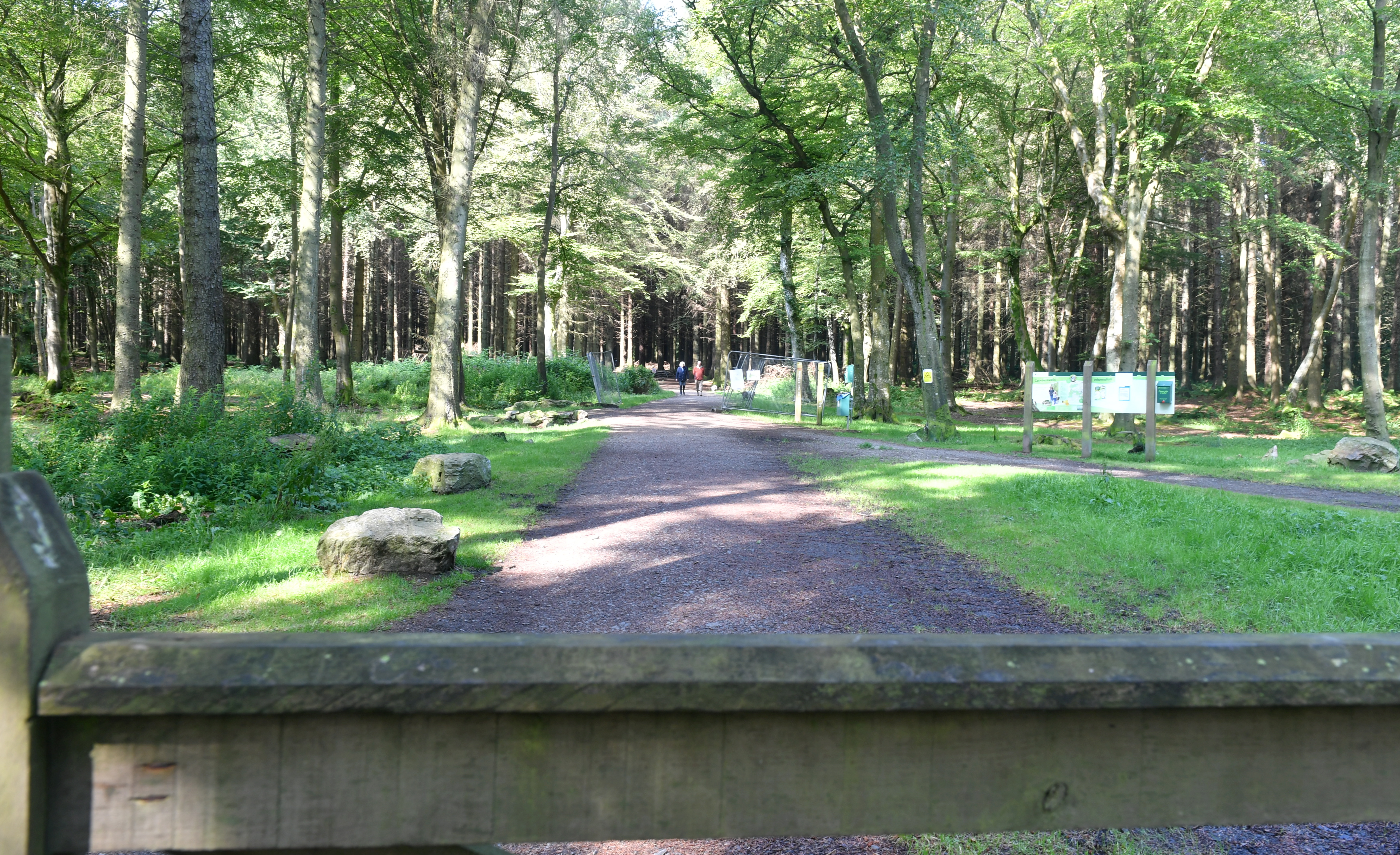 The car park at Countesswells Woods