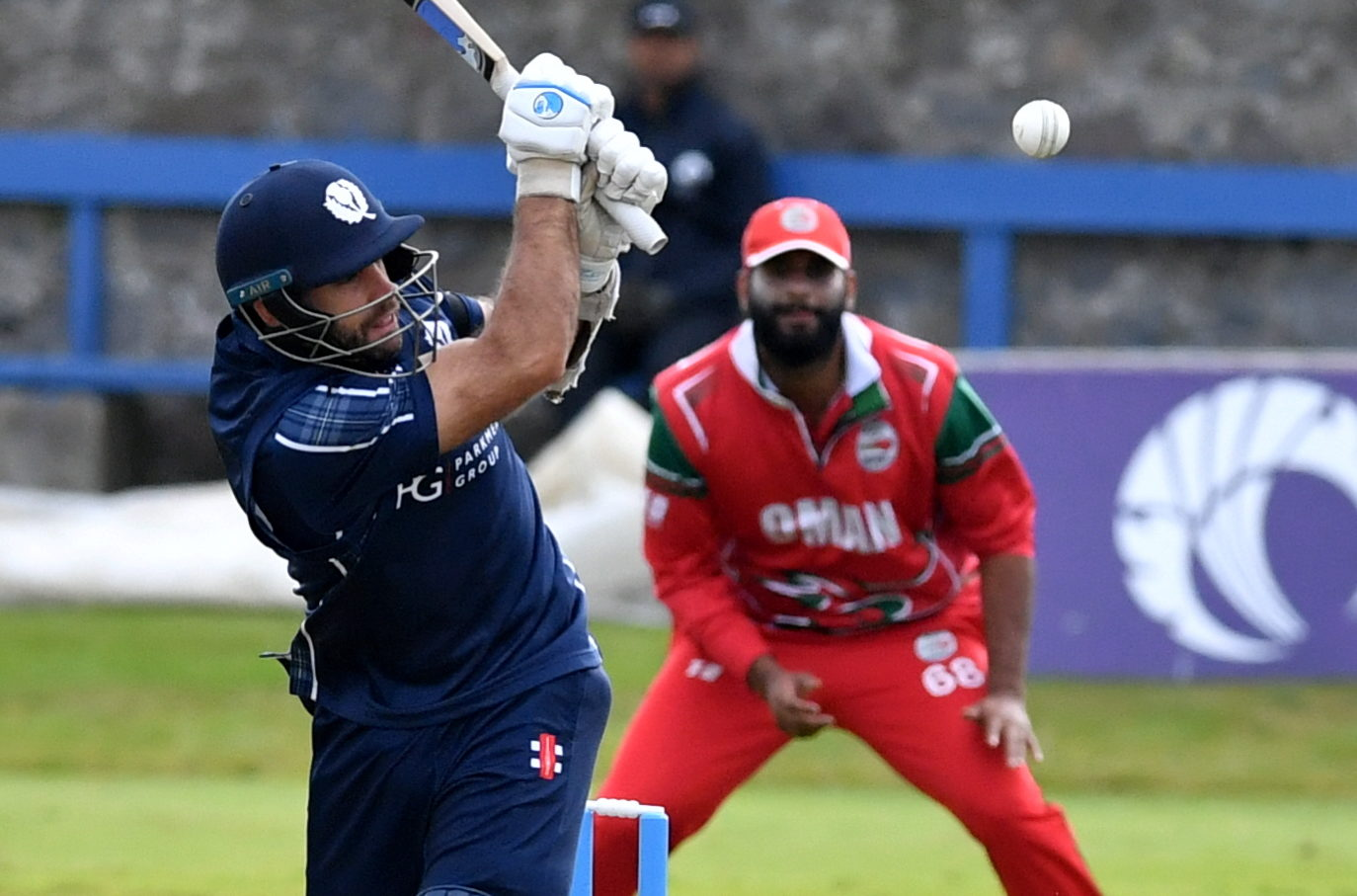 Kyle Coetzer in action against Oman at Mannofield. Picture by Chris Sumner