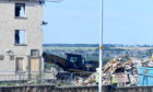 The final Logie flats are torn down. Picture by Chris Sumner