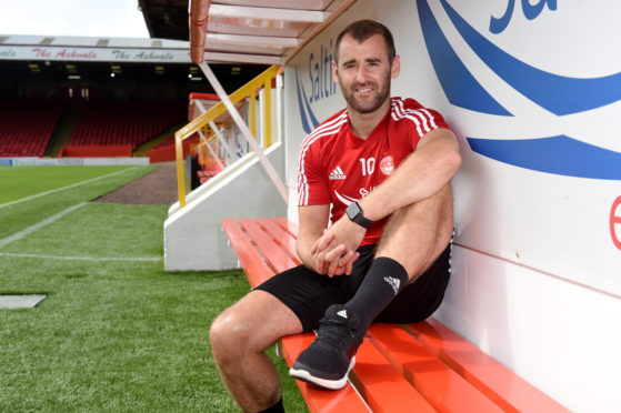 Niall McGinn.  Picture by Kenny Elrick