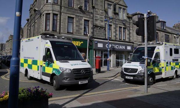 Paramedics were sent to the scene on Broad Street