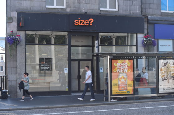 Size? on Union Street has closed