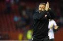 Aberdeen manager Derek McInnes celebrates at full time