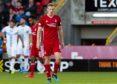 Aberdeen's Lewis Ferguson looks dejected