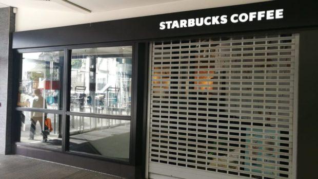 The Starbucks in the Bon Accord centre has closed