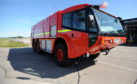 One of the fire engines at Aberdeen International Airport