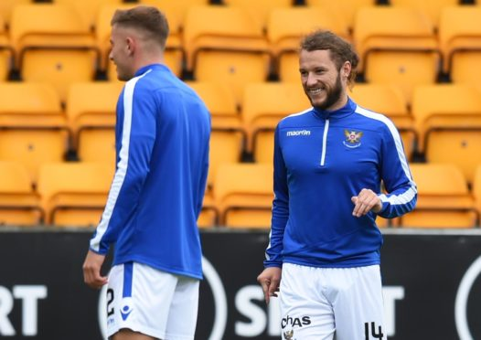 Stevie May during the Ladbrokes Premiership game between St Johnstone and Kilmarnock at McDiarmid Park.