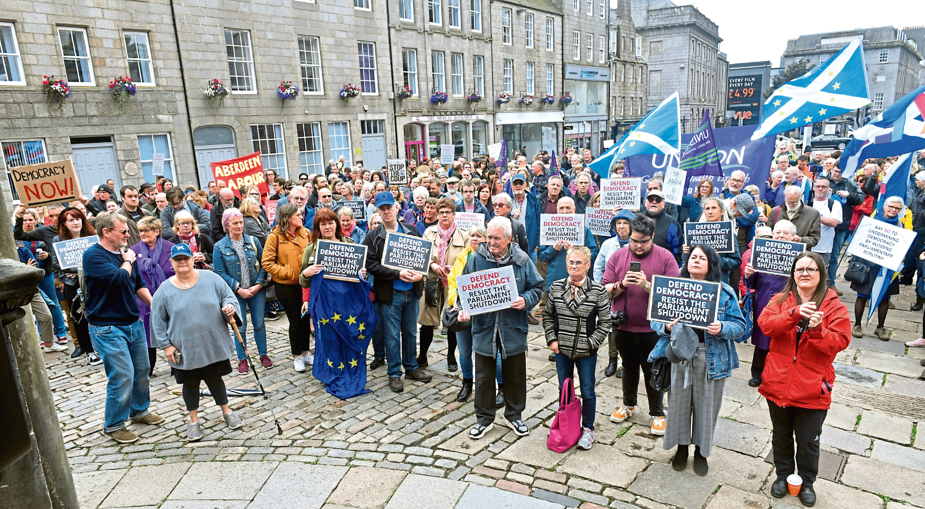 The protest was held at the Castlegate on Saturday. Picture by Chris Sumner