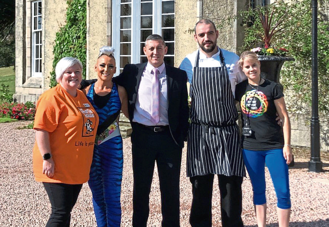 From left, Helen Peterkin-Nicol (Charlie House), Arlene Barclay (Juice Fitness & Lifestyle), Kenny McMillan and Edwin Blackhall (both Macdonald Pittodrie House Hotel) and Rebecca Mennie (BECS)