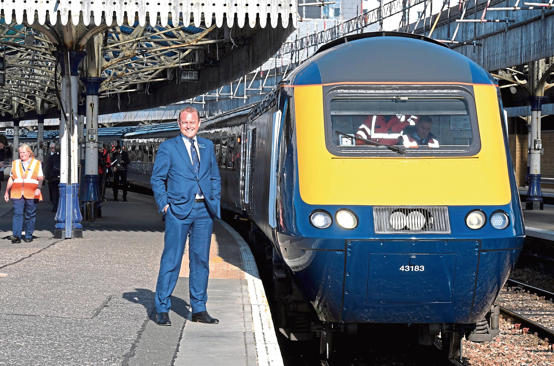 ScotRail Alliance MD Alex Hynes at Aberdeen train station
