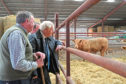 Prime Minister Boris Johnson (during a visit to Darnford Farm in Banchory. Credit: Andrew Milligan/PA Wire