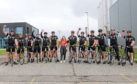 The group of Royal Marines who completed the challenge – and raised more than £13,000 – with Naomi Forrest from Friends of Anchor