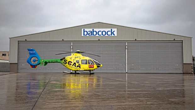 The SCAA has a four-year contract with Babcock for a Helimed 79