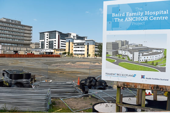 The Baird Family Hospital construction site. Costs for building the hospital are looking far higher than expected