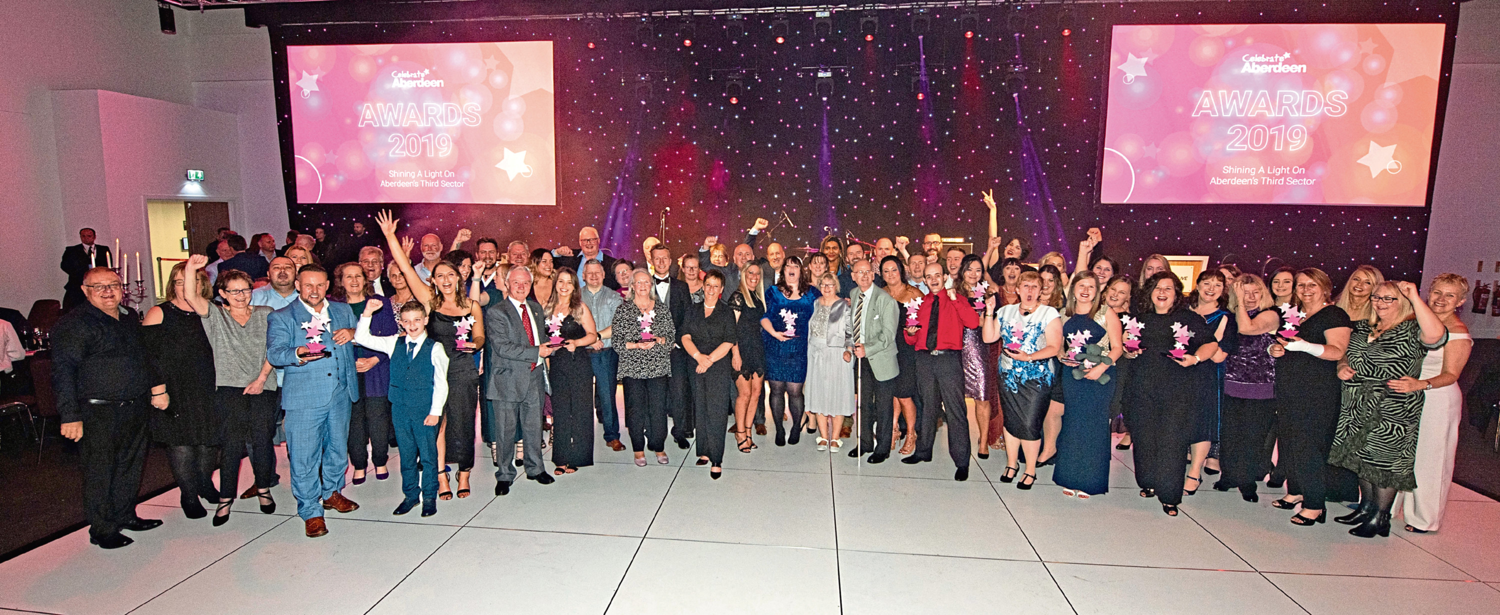 The winners from this year's Celebrate Aberdeen Awards