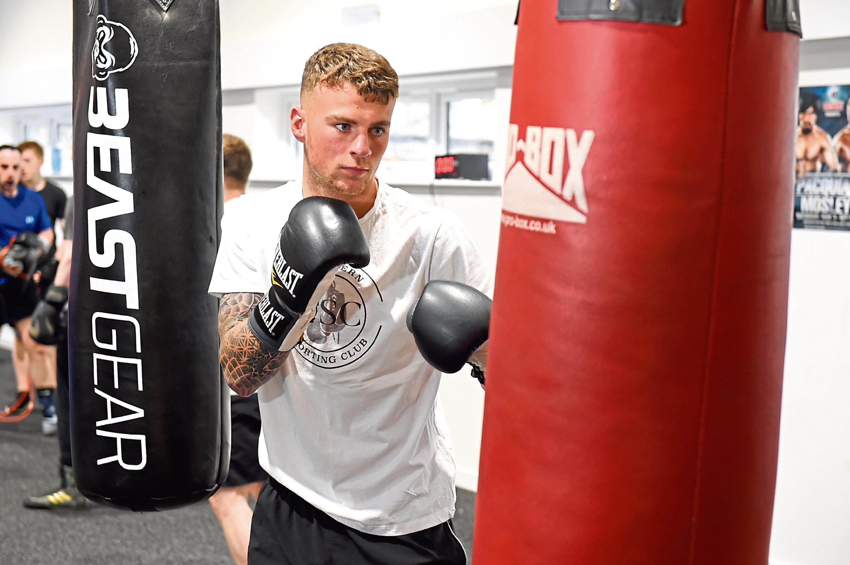 Callum Stuart in training