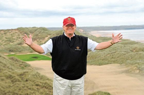 Donald Trump at Menie Estate