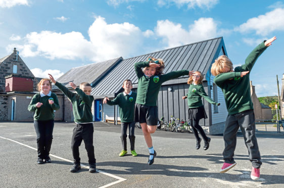 Work was completed at Old Rayne primary school, which has an increasing school roll