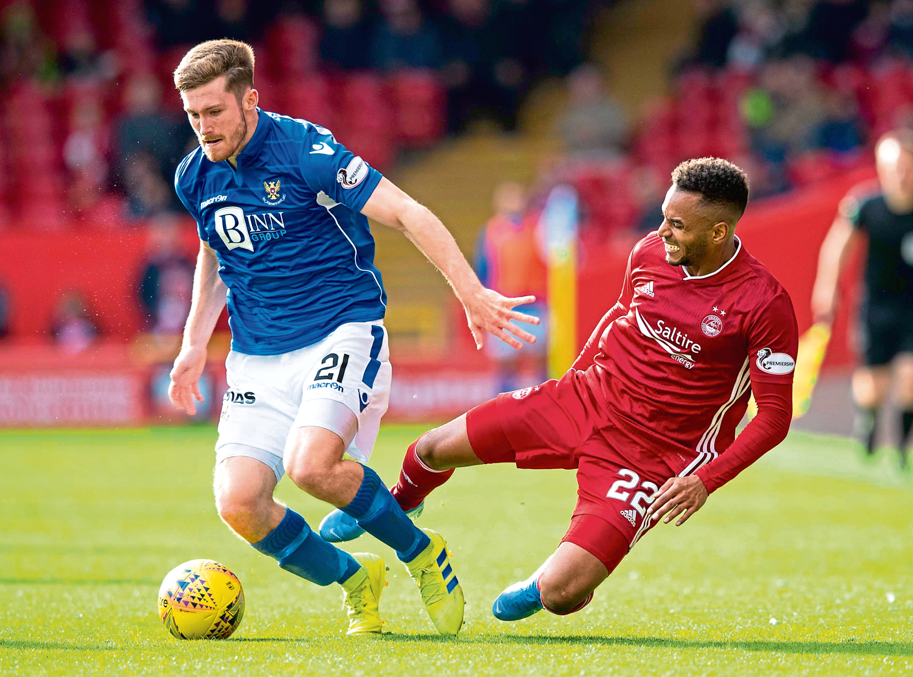 Aberdeen midfielder Funso Ojo was ruled out long term after being hurt against St Johnstone.