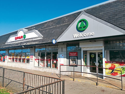 The Spar store on Provost Watt Drive was the target of an attempted robbery.