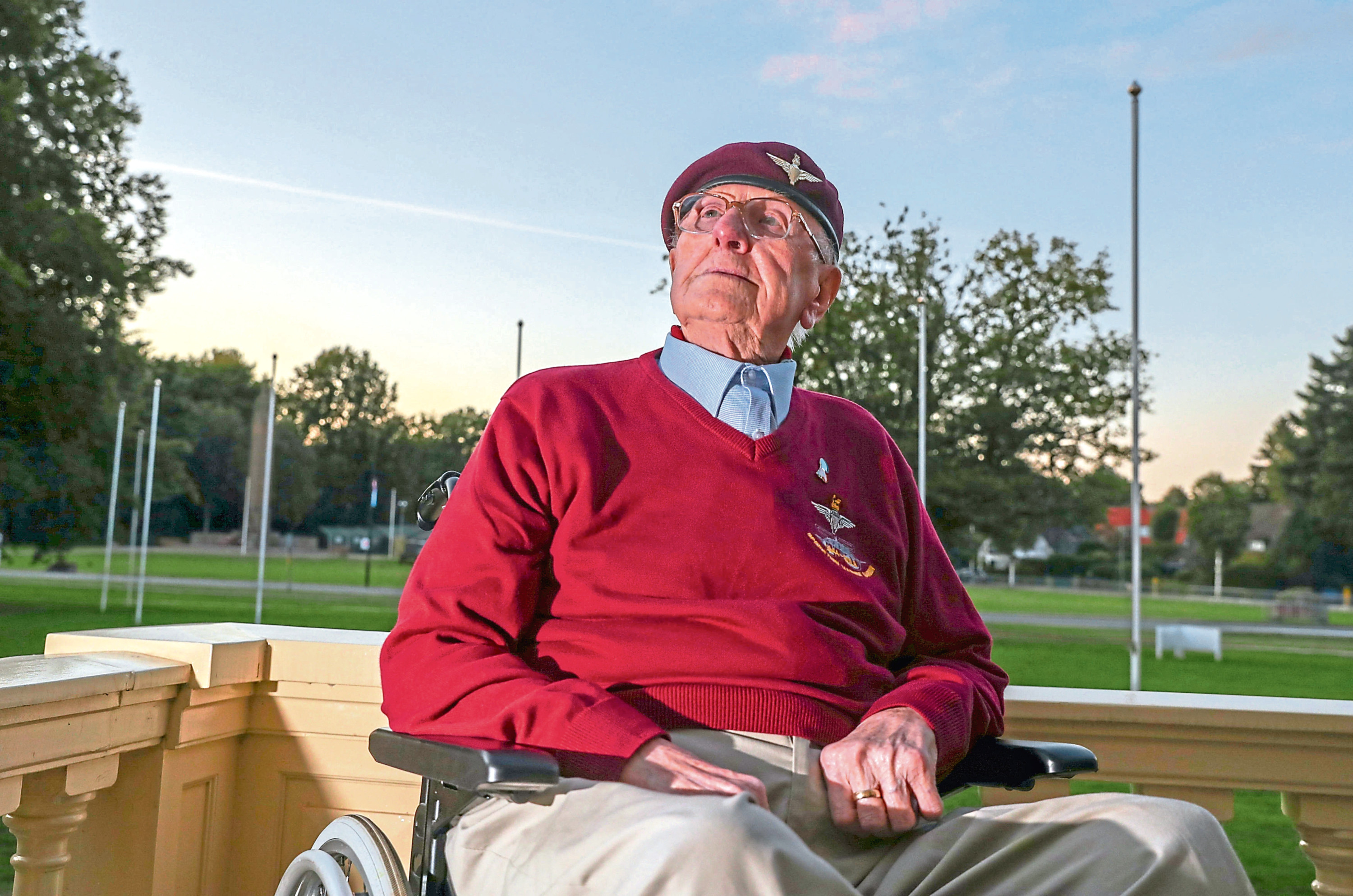 Former paratrooper Sandy Cortmann, from Aberdeen, makes an emotional return to Arnhem in the Netherlands to mark the 75th anniversary of Operation Market Garden