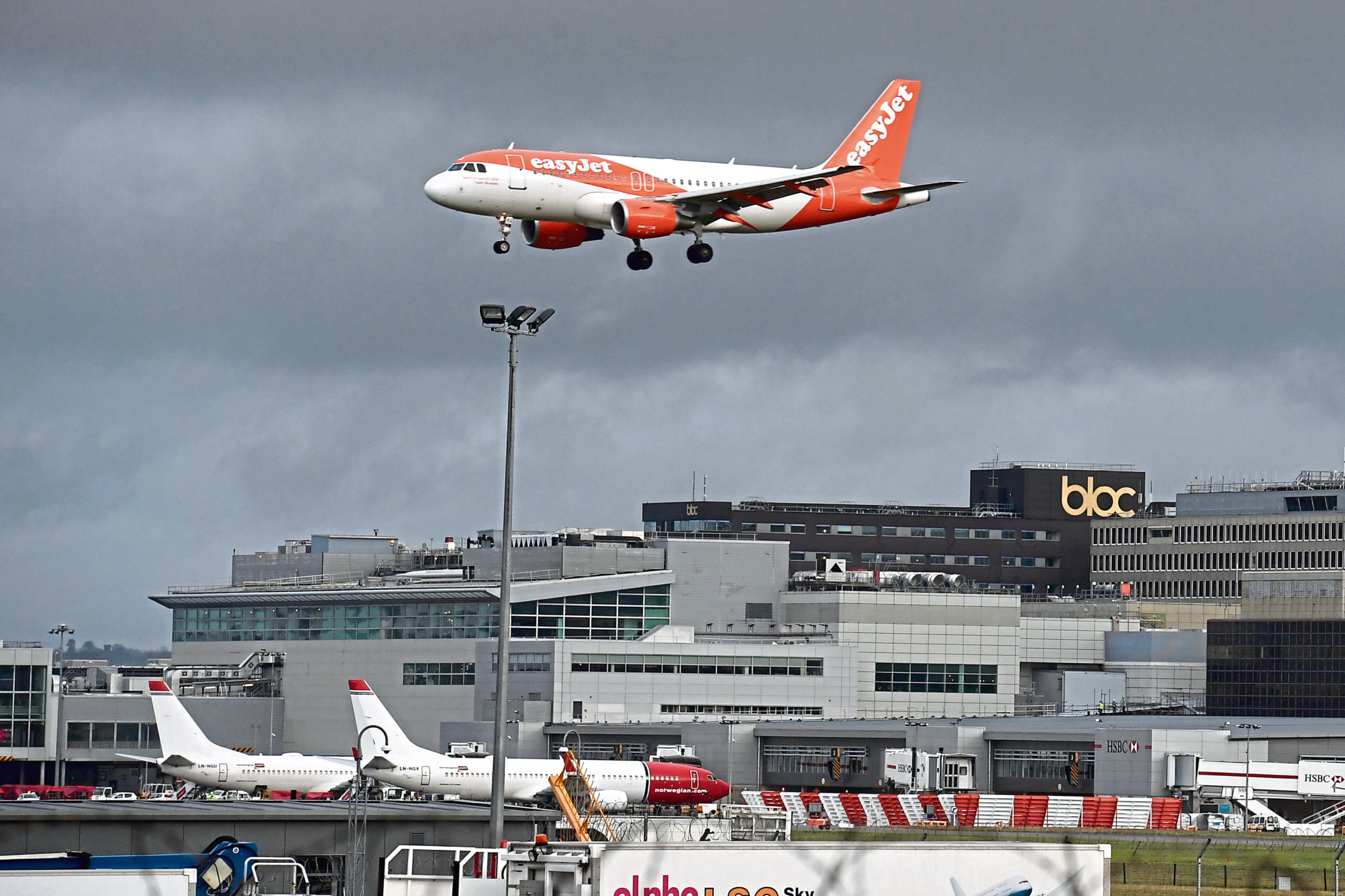 The easyJet service from Aberdeen to Gatwick was axed