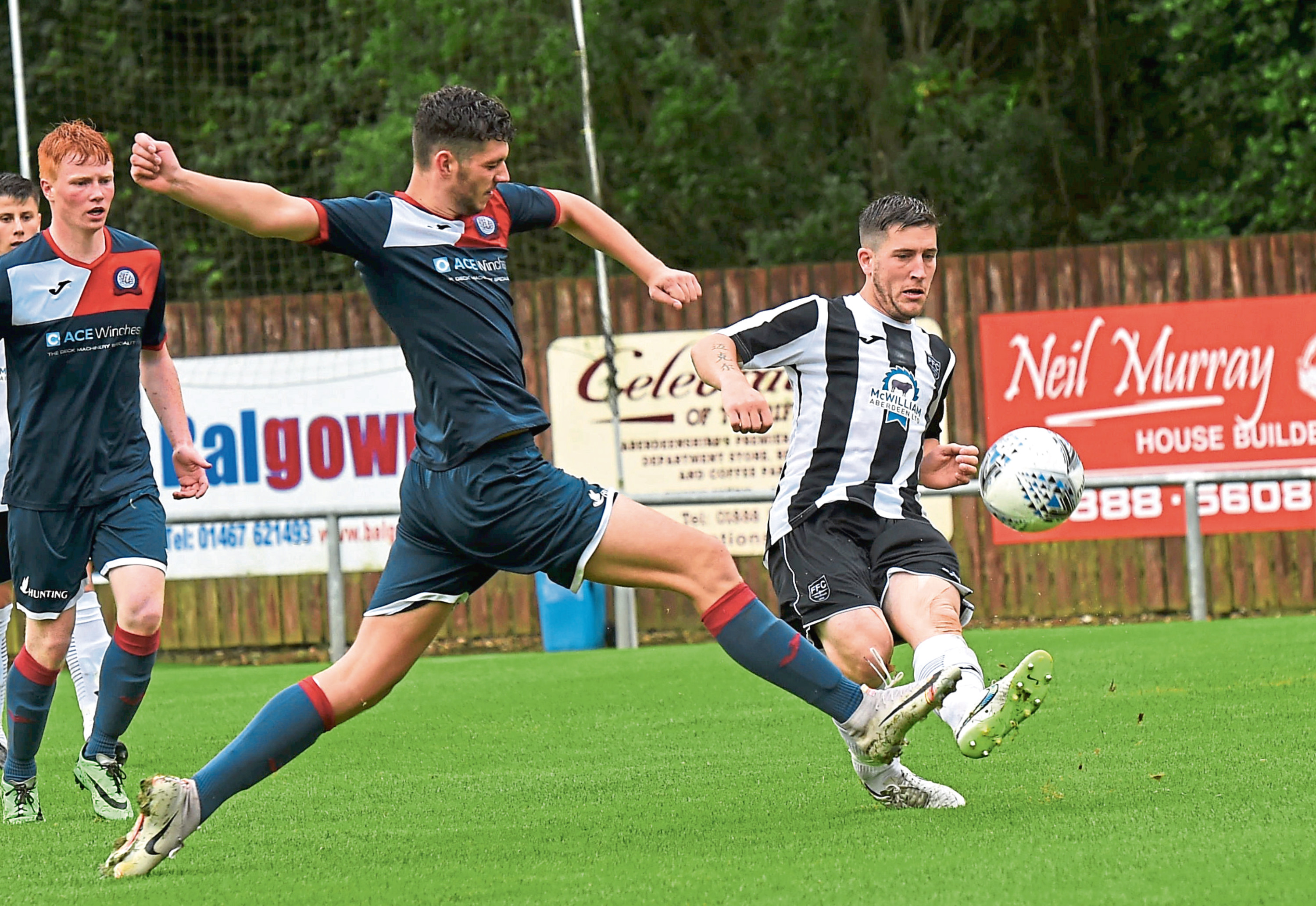 Fraserburgh's Michael Rae and Turriff's James Robson