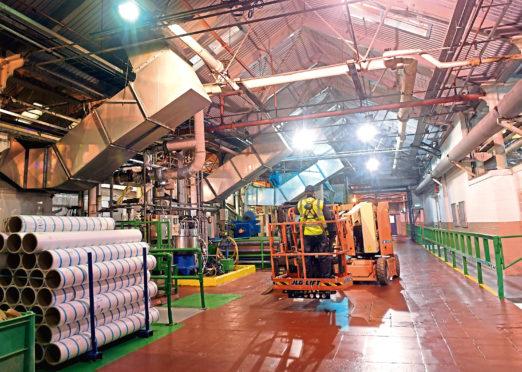 Inside Stoneywood Mill