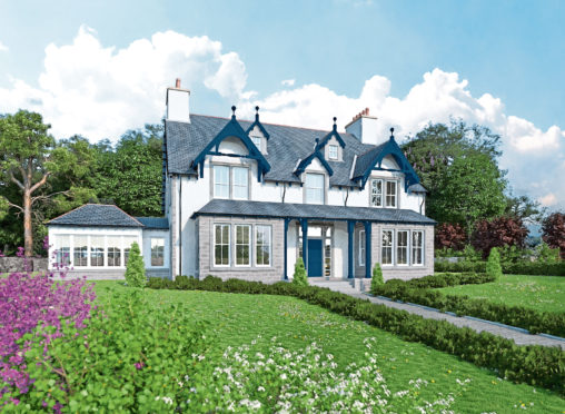 An artist impression of one of the properties