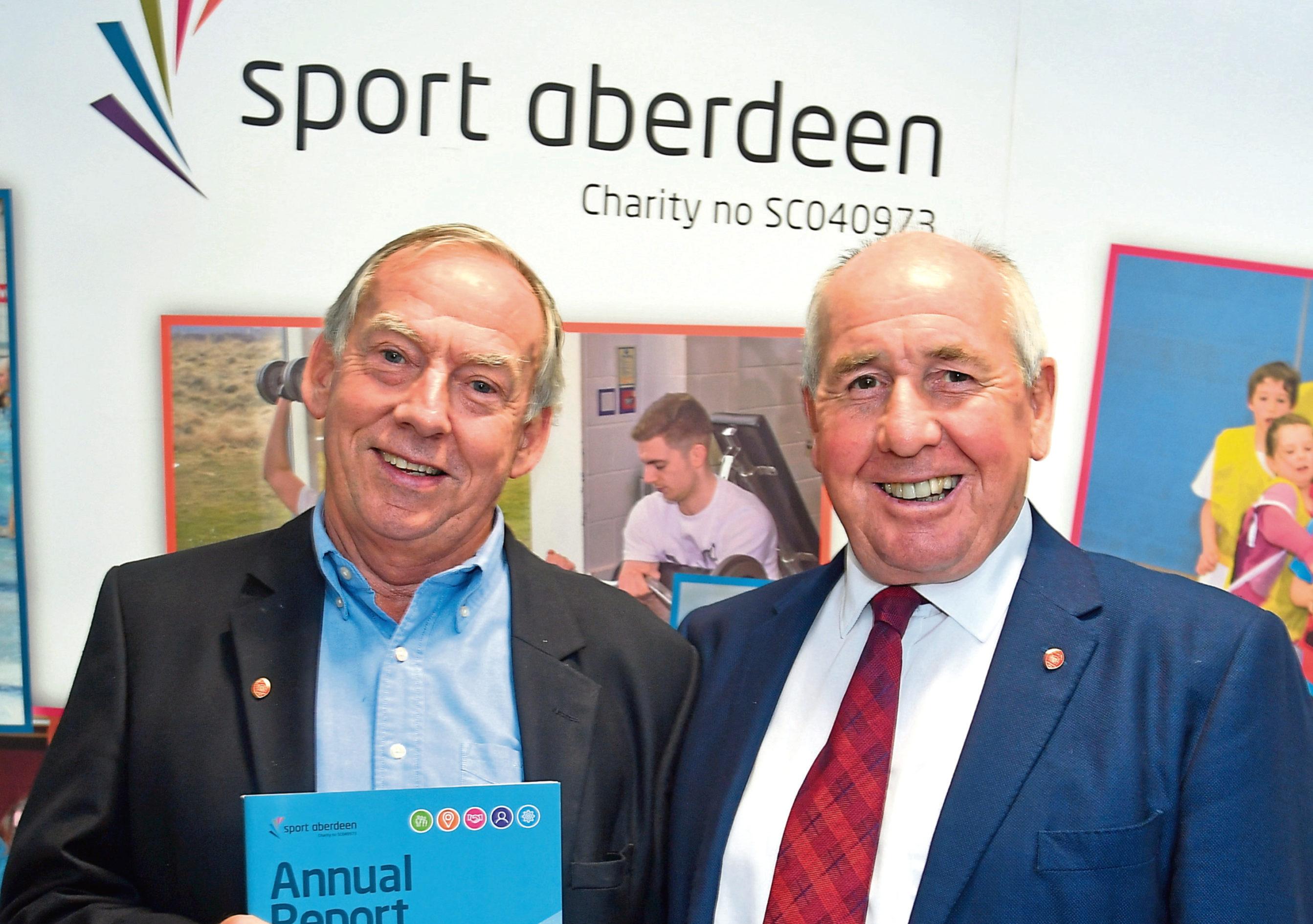 Tony Dawson, left, is SportAberdeen's new chairman
