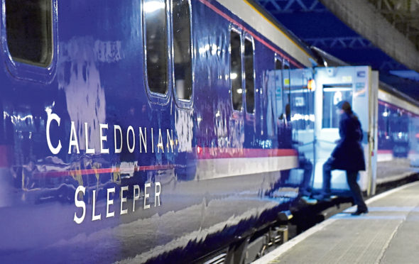 Locator of Caledonian Sleeper train at Aberdeen Railway Station