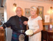 Sandra and William on their second big day, as friends and family joined the couple for the special event