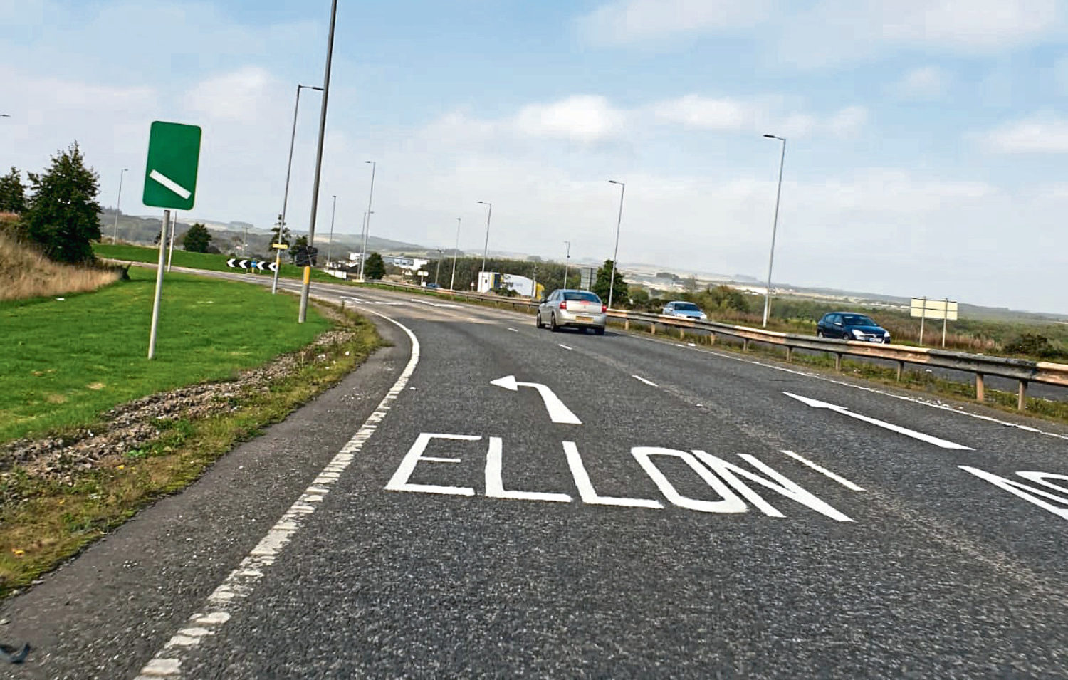 Improvements have been made to markings on the A90 roundabout near Ellon