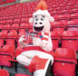 Aberdeen Football Club Community Trust apprentice Tommy Davie dressed as Donny the Sheep