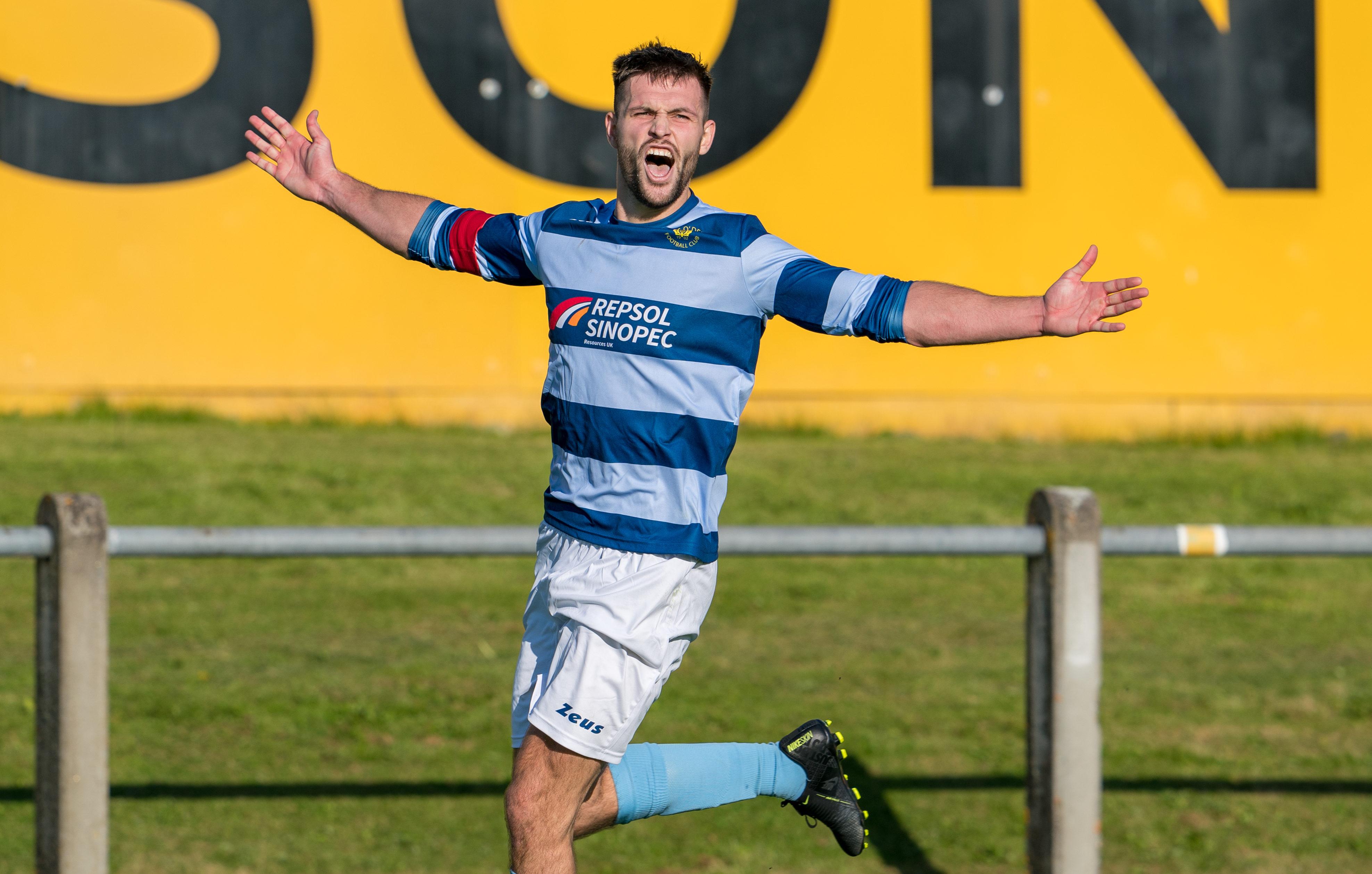 Kane Winton celebrates his goal