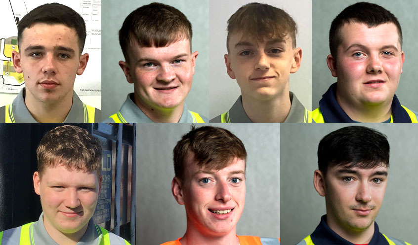 The seven new apprentices